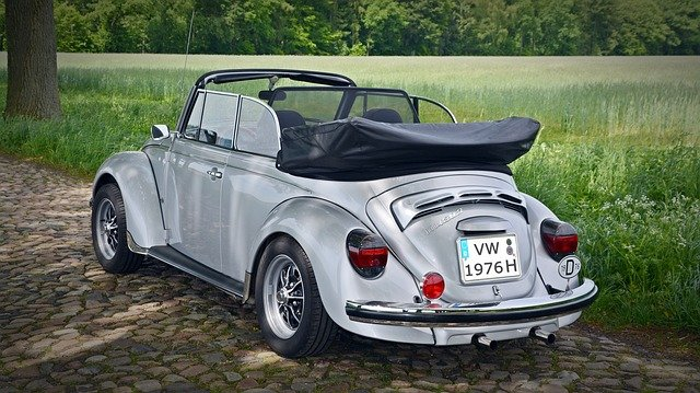 VW Beetle bez střechy