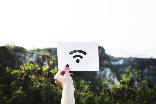 papír se symbolem wifi