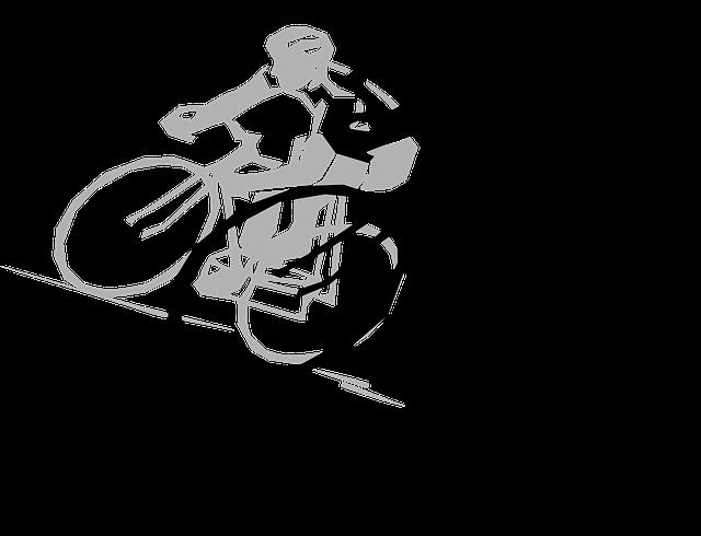 Černá kresba cyklisty